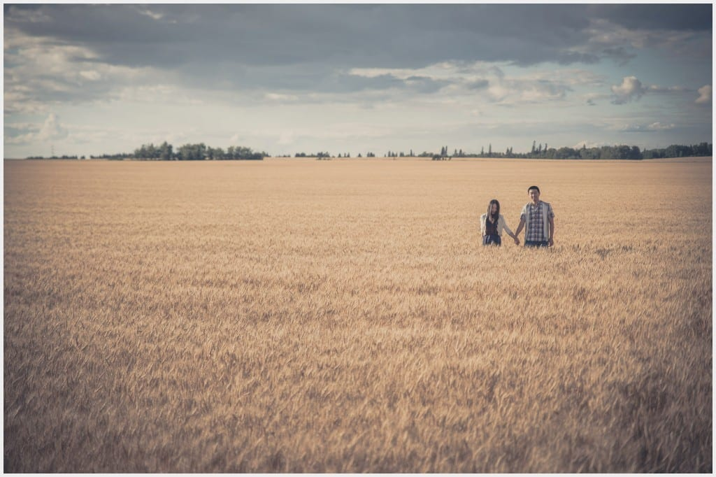 009-Calgary Wheat Field Edmonton Engagement Photography _WEB