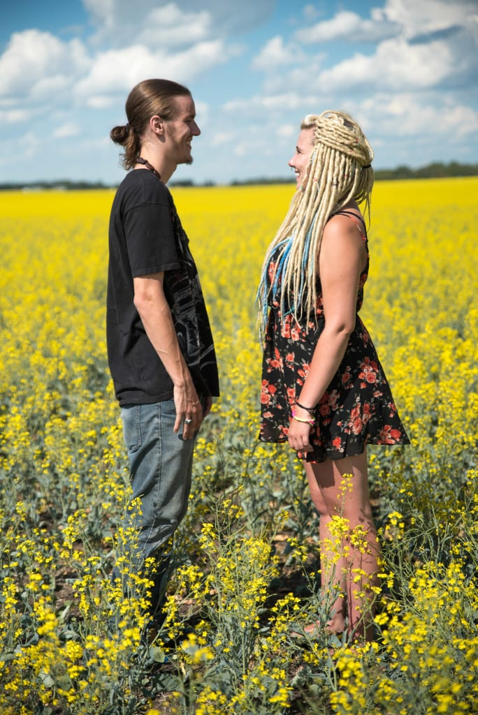 012-Edmonton Canola Field Engagement Couple Photography Session-