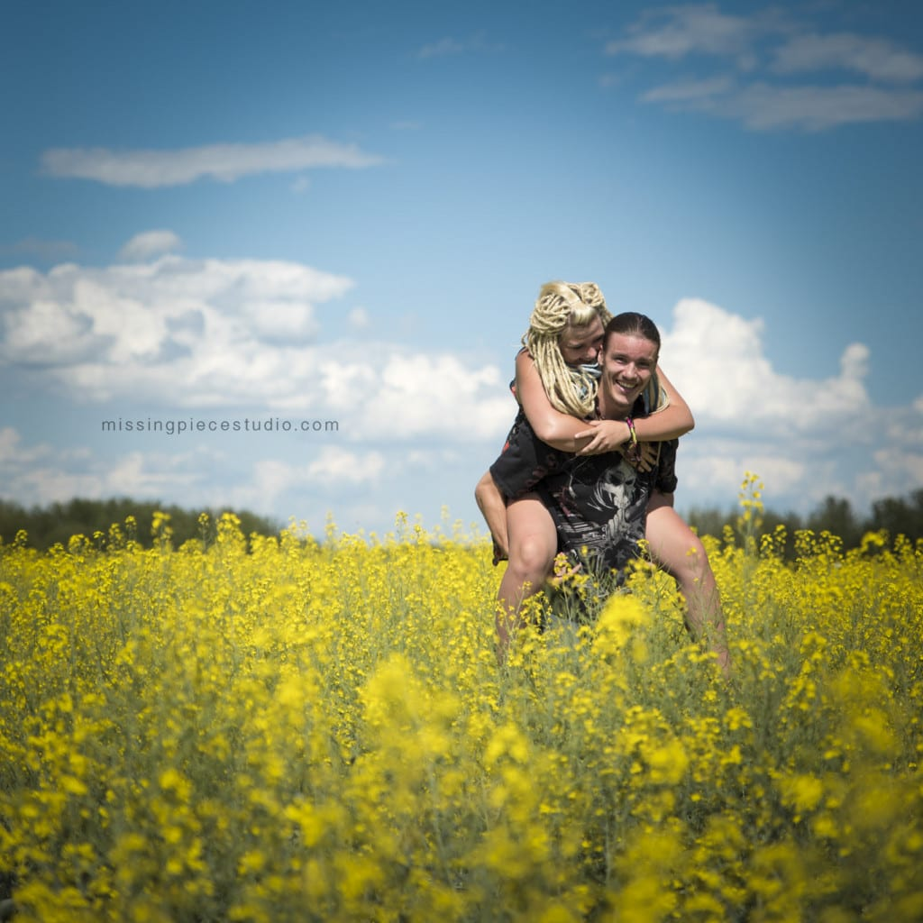 016-Edmonton Canola Field Engagement Couple Photography Session-