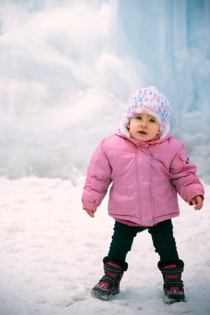 Edmonton infant Outdoor Portrait Photography Ice Castles