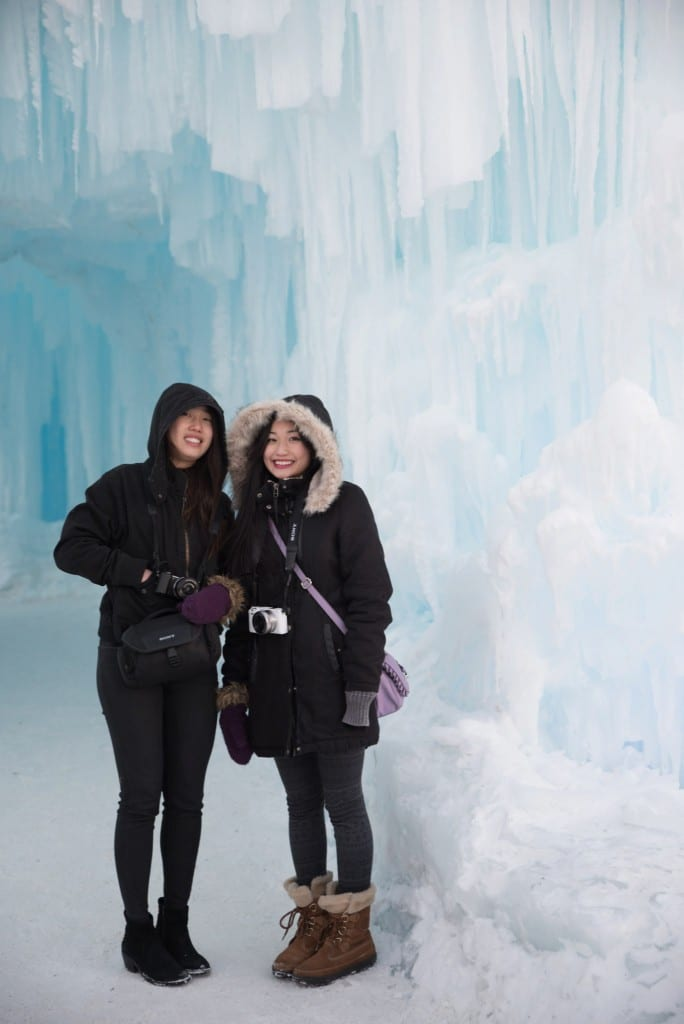 Ice Castles Edmonton Alberta Winter Visit Hawrelak Park-day time morning
