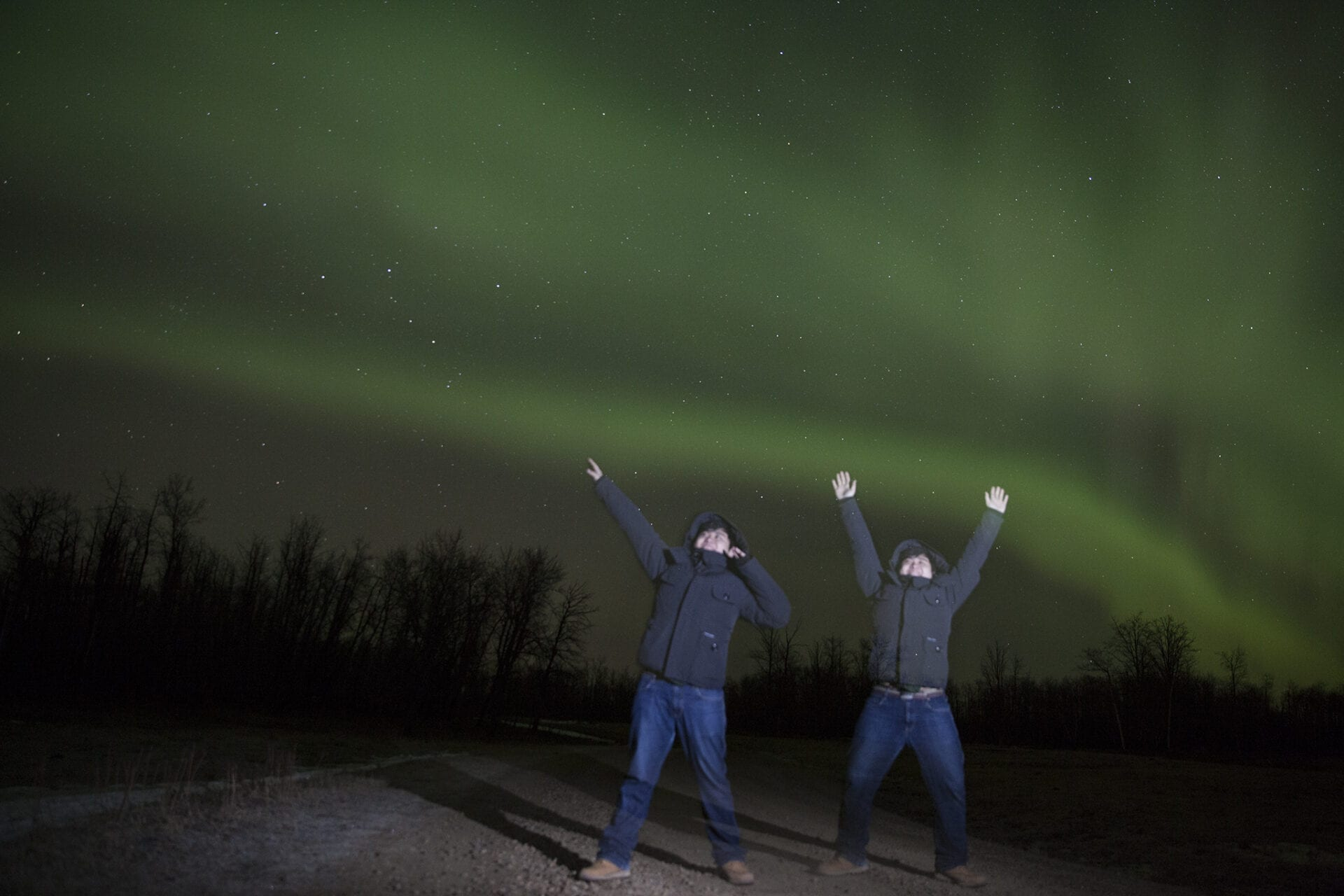 Edmonton Photographer Shooting under the Northern Lights